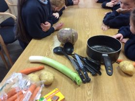 Making soup in Year 1and 2