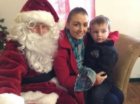 Nursery children visit Santa