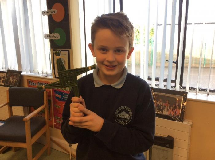 Some excellent examples of the St Brigid's Cross were created.