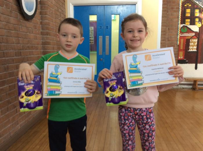 P3 AR award winners who achieved their targets.