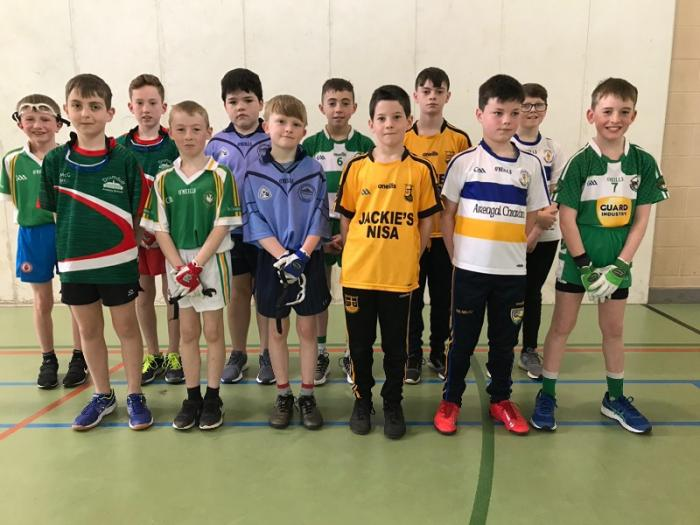 All the boys from the various schools who competed in the one wall tournament.
