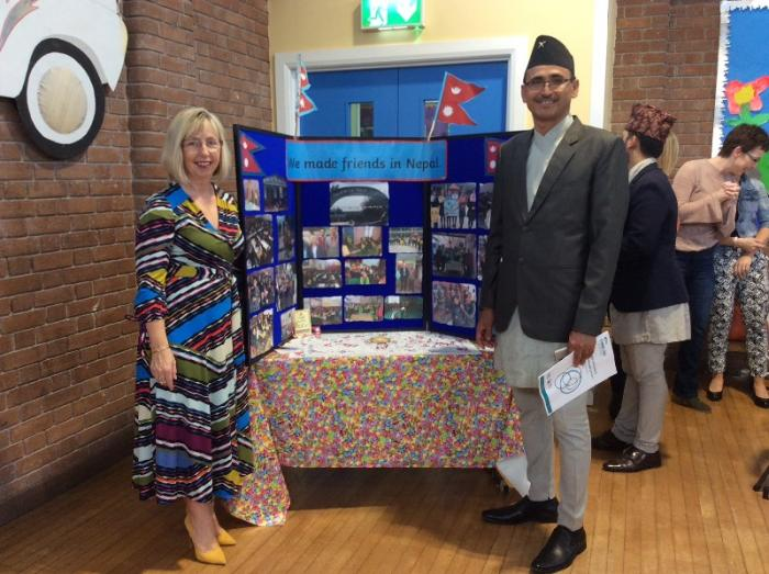 Mrs Maguire welcomes Mr Bista to our school and reminisces about the time she visited Mr Bista's school in Kathmandu.
